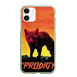 Чехол iPhone 11 матовый The Prodigy: Red Fox цвета 3D-салатовый — фото 1