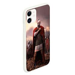 Чехол iPhone 11 матовый Князь Святослав Игоревич цвета 3D-белый — фото 2