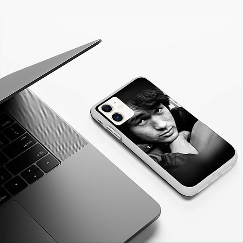Чехол iPhone 11 матовый Виктор Цой / 3D-Белый – фото 3
