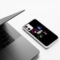 Чехол iPhone 11 матовый KISS: Acid Colours цвета 3D-белый — фото 2