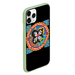 Чехол iPhone 11 Pro матовый KISS: Over цвета 3D-салатовый — фото 2