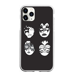 Чехол iPhone 11 Pro матовый KISS Mask цвета 3D-белый — фото 1