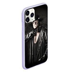 Чехол iPhone 11 Pro матовый Гробовщик 2 цвета 3D-светло-сиреневый — фото 2