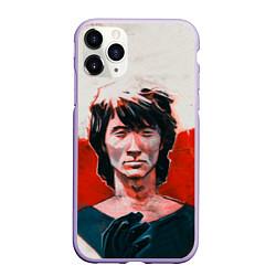 Чехол iPhone 11 Pro матовый Молодой Цой цвета 3D-светло-сиреневый — фото 1