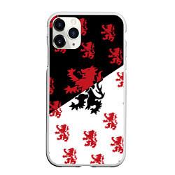 Чехол iPhone 11 Pro матовый Лев герба Нидерландов цвета 3D-белый — фото 1