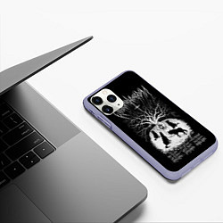 Чехол iPhone 11 Pro матовый Wolves in the Throne Room цвета 3D-светло-сиреневый — фото 2