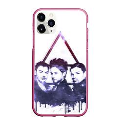 Чехол iPhone 11 Pro матовый 30 seconds to mars цвета 3D-малиновый — фото 1