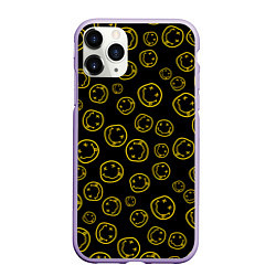 Чехол iPhone 11 Pro матовый Nirvana Pattern цвета 3D-светло-сиреневый — фото 1