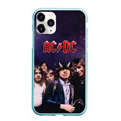 Чехол iPhone 11 Pro матовый AC/DC цвета 3D-мятный — фото 1