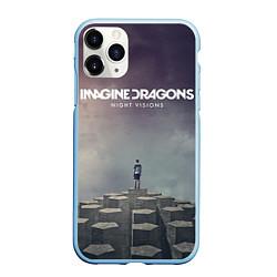 Чехол для iPhone 11 Pro матовый с принтом Imagine Dragons: Night Visions, цвет: 3D-голубой, артикул: 10064384305909 — фото 1