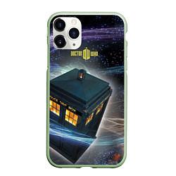 Чехол iPhone 11 Pro матовый Police Box цвета 3D-салатовый — фото 1