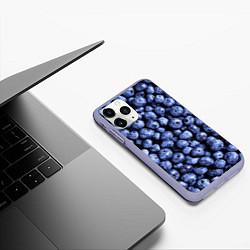 Чехол iPhone 11 Pro матовый Черника цвета 3D-светло-сиреневый — фото 2
