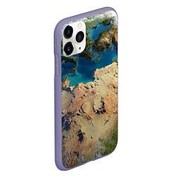 Чехол iPhone 11 Pro матовый Земля цвета 3D-серый — фото 2