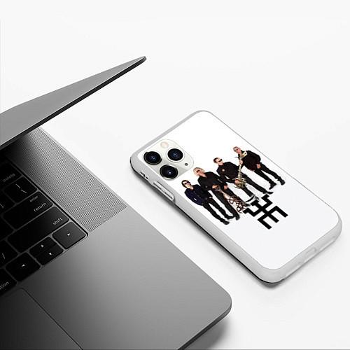 Чехол iPhone 11 Pro матовый Группа Пикник / 3D-Белый – фото 3
