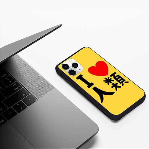 Чехол iPhone 11 Pro матовый No game no life Sora / 3D-Черный – фото 3