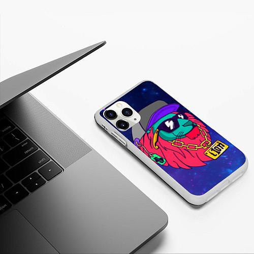 Чехол iPhone 11 Pro матовый Лев SWAG / 3D-Белый – фото 3