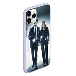 Чехол iPhone 11 Pro матовый Малдер и Скалли цвета 3D-светло-сиреневый — фото 2