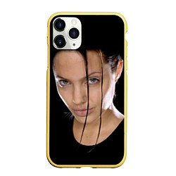 Чехол iPhone 11 Pro матовый Tomb Rider цвета 3D-желтый — фото 1