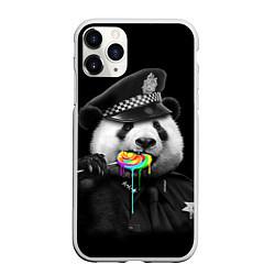 Чехол iPhone 11 Pro матовый Панда с карамелью цвета 3D-белый — фото 1