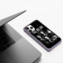 Чехол iPhone 11 Pro матовый Fall out boy band цвета 3D-серый — фото 2