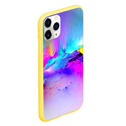 Чехол iPhone 11 Pro матовый Абстракция цвета 3D-желтый — фото 2
