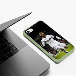 Чехол iPhone 6/6S Plus матовый Роналдо цвета 3D-салатовый — фото 2