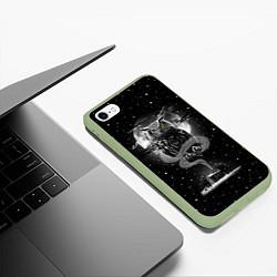 Чехол для iPhone 6/6S Plus матовый с принтом Ночная сова, цвет: 3D-салатовый, артикул: 10114653205961 — фото 2