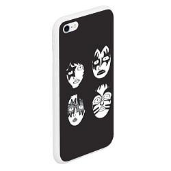 Чехол iPhone 6/6S Plus матовый KISS Mask цвета 3D-белый — фото 2