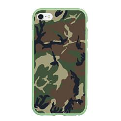 Чехол iPhone 6/6S Plus матовый Камуфляж: хаки/зеленый цвета 3D-салатовый — фото 1