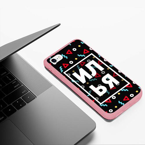 Чехол iPhone 6/6S Plus матовый Илья / 3D-Баблгам – фото 3