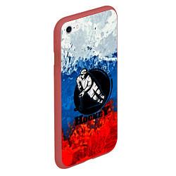 Чехол iPhone 6/6S Plus матовый Hockey цвета 3D-красный — фото 2