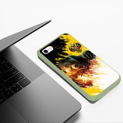 Чехол iPhone 6/6S Plus матовый Имперский медведь цвета 3D-салатовый — фото 2
