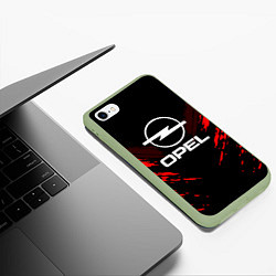 Чехол iPhone 6/6S Plus матовый Opel: Red Anger цвета 3D-салатовый — фото 2