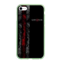Чехол iPhone 6/6S Plus матовый God of War: Black Style цвета 3D-салатовый — фото 1