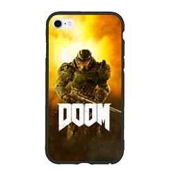 Чехол iPhone 6/6S Plus матовый DOOM: Soldier цвета 3D-черный — фото 1