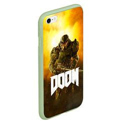 Чехол iPhone 6/6S Plus матовый DOOM: Soldier цвета 3D-салатовый — фото 2