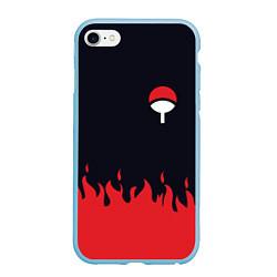 Чехол для iPhone 6/6S Plus матовый с принтом UCHIHA CLAN, цвет: 3D-голубой, артикул: 10160540305961 — фото 1
