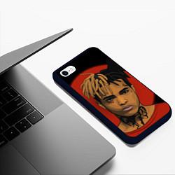 Чехол iPhone 6/6S Plus матовый XXXTentacion: Red Sun цвета 3D-черный — фото 2