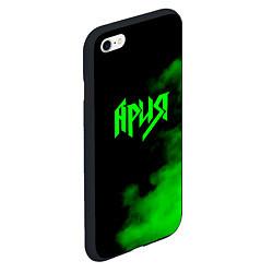 Чехол iPhone 6/6S Plus матовый Ария цвета 3D-черный — фото 2