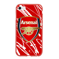 Чехол iPhone 6/6S Plus матовый Arsenal цвета 3D-красный — фото 1