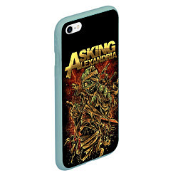 Чехол iPhone 6/6S Plus матовый Asking Alexandria цвета 3D-мятный — фото 2
