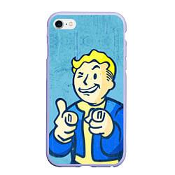 Чехол iPhone 6/6S Plus матовый Fallout: It's okey цвета 3D-светло-сиреневый — фото 1