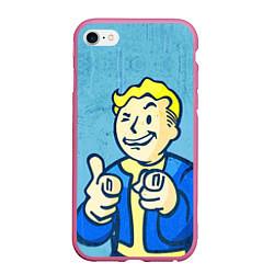 Чехол iPhone 6/6S Plus матовый Fallout: It's okey цвета 3D-малиновый — фото 1
