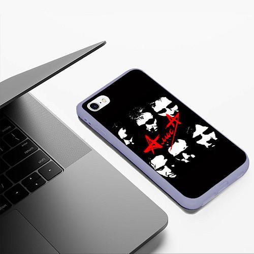 Чехол iPhone 6 Plus/6S Plus матовый Группа АлисА / 3D-Светло-сиреневый – фото 3