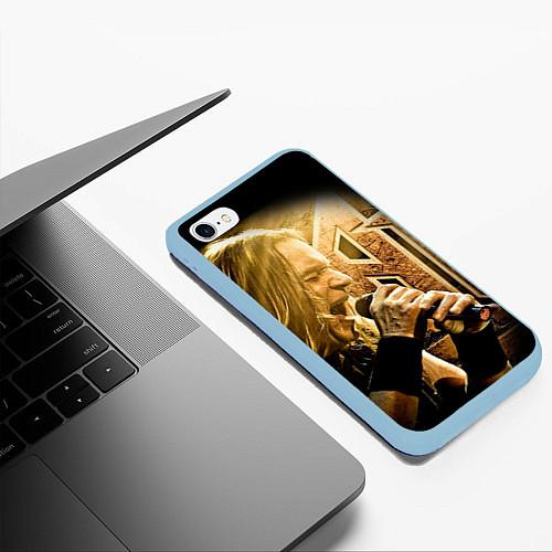 Чехол iPhone 6 Plus/6S Plus матовый Кипелов: Ария / 3D-Голубой – фото 3