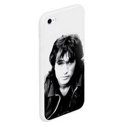 Чехол iPhone 6/6S Plus матовый Кино: Виктор Цой цвета 3D-белый — фото 2