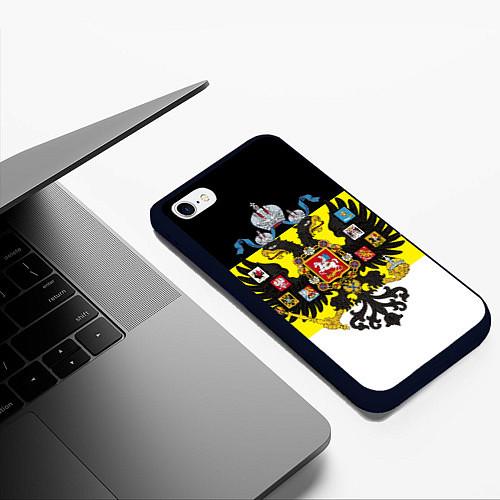 Чехол iPhone 6 Plus/6S Plus матовый Имперский Флаг / 3D-Черный – фото 3