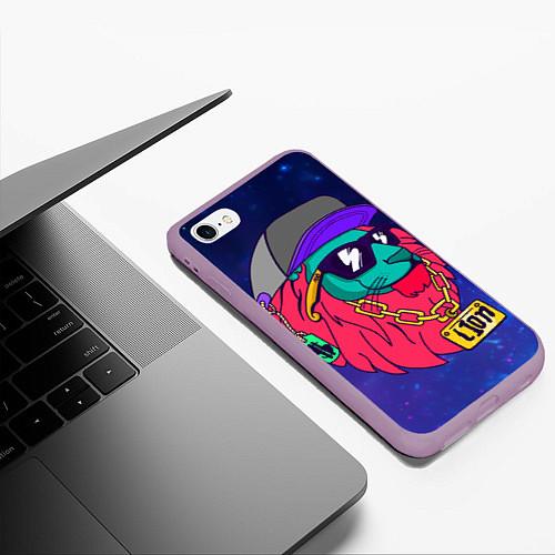 Чехол iPhone 6 Plus/6S Plus матовый Лев SWAG / 3D-Сиреневый – фото 3