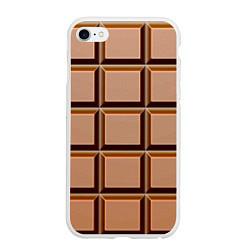 Чехол iPhone 6/6S Plus матовый Шоколад цвета 3D-белый — фото 1