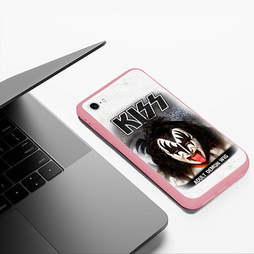 Чехол iPhone 6 Plus/6S Plus матовый KISS: Adult demon wig / 3D-Баблгам – фото 3